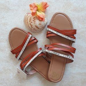 SO fancy slip on sandals